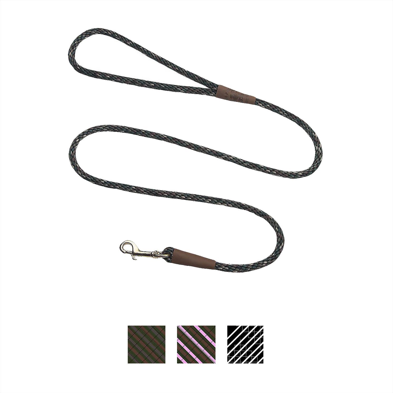 mendota products small snap camouflage print dog leash