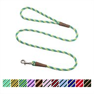 Mendota Products Small Snap Striped Dog Leash, Ivy, 4-ft