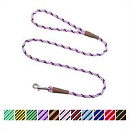 Mendota Products Small Snap Striped Dog Leash, Lilac, 4-ft