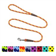 Mendota Products Small Snap Checkered Dog Leash, Amber, 4-ft