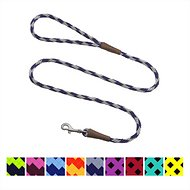 Mendota Products Small Snap Checkered Dog Leash, Amethyst, 4-ft