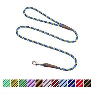 Mendota Products Small Snap Striped Dog Leash, Sunset, 6-ft