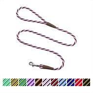 Mendota Products Small Snap Striped Dog Leash, Pink Chocolate, 6-ft