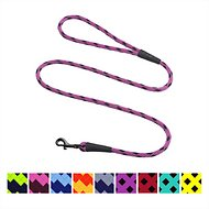 Mendota Products Small Snap Checkered Dog Leash, Black Ice Raspberry, 6-ft