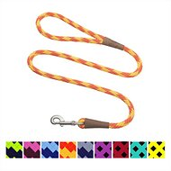 Mendota Products Large Snap Checkered Dog Leash, Amber, 4-ft