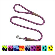 Mendota Products Large Snap Checkered Dog Leash, Ruby, 4-ft