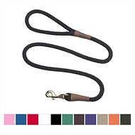 Mendota Products Large Snap Solid Dog Leash, Black, 6-ft