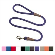 Mendota Products Large Snap Solid Dog Leash, Purple, 6-ft