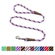 Mendota Products Large Snap Striped Dog Leash, Lilac, 6-ft