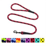 Mendota Products Large Snap Checkered Dog Leash, Black Ice Red, 6-ft