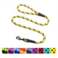 Mendota Products Large Snap Checkered Dog Leash, Black Ice Yellow, 6-ft