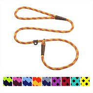 Mendota Products Small Slip Checkered Dog Lead, Amber, 4-ft