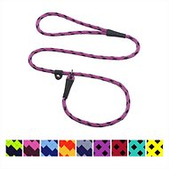 Mendota Products Small Slip Checkered Dog Lead, Black Ice Raspberry, 4-ft
