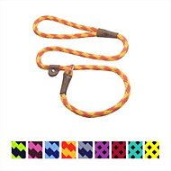 Mendota Products Large Slip Checkered Dog Lead, Amber, 4-ft