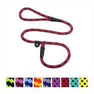 Mendota Products Large Slip Checkered Dog Lead, Black Ice Red, 4-ft