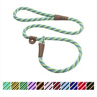 Mendota Products Large Slip Striped Dog Lead, Seafoam, 6-ft
