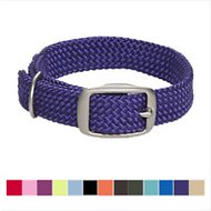 Mendota Products Double Braid Dog Collar, Purple, 18-in