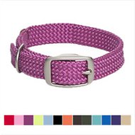 Mendota Products Double Braid Dog Collar, Raspberry, 21-in