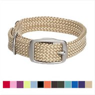 Mendota Products Double Braid Dog Collar, Sand, 24-in