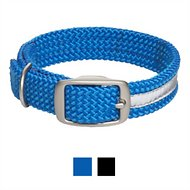 Mendota Products Reflective Double Braid Dog Collar, Blue, 24-in