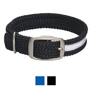 Mendota Products Reflective Double Braid Dog Collar, Black, 24-in