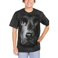 The Mountain Big Face Black Lab Unisex Adult Short Sleeve T-Shirt, Small