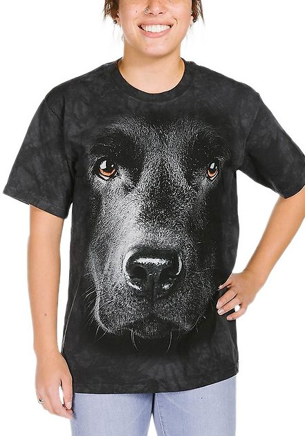 Chocolate Lab Face Dogs T Shirt Child Unisex The Mountain