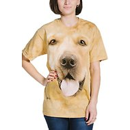 The Mountain Big Face Golden Unisex Adult Short Sleeve T-Shirt, Yellow, X-Large