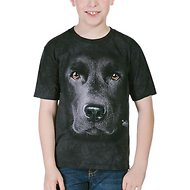 The Mountain Big Face Black Lab Kids Short Sleeve T-Shirt, Small