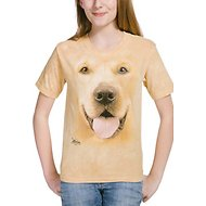 The Mountain Big Face Golden Kids Short Sleeve T-Shirt, Yellow, Small