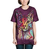The Mountain Big Face Abyssinian Unisex Adult Short Sleeve T-Shirt, Purple, Small
