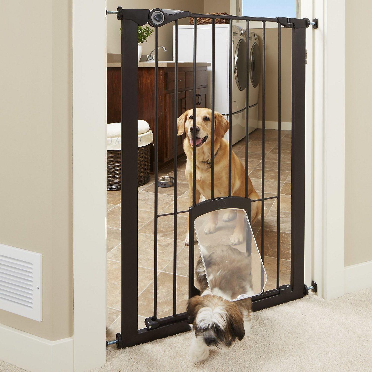 MyPet Extra Tall Petgate Passage Gate with Small Pet Door, 42-inch ...