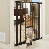 MyPet Extra Tall Petgate Passage Gate with Small Pet Door, 42-inch, Bronze