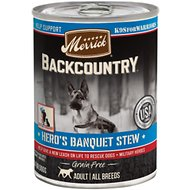Merrick Backcountry Hero's Banquet Stew Grain-Free Canned Dog Food, 12.7-oz, case of 12