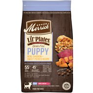 Merrick Lil' Plates Real Chicken & Sweet Potato Recipe Grain-Free Puppy Dry Dog Food, 4-lb bag