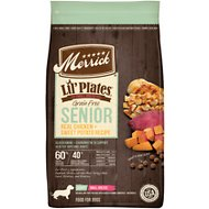 Merrick Lil' Plates Real Chicken & Sweet Potato Recipe Grain-Free Senior Dry Dog Food, 4-lb bag