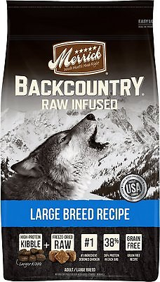Merrick Backcountry Raw Infused Large Breed Recipe Dry Dog