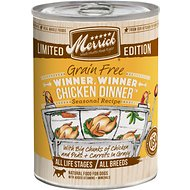 Merrick Seasonals Winner, Winner Chicken Dinner Recipe Grain-Free Canned Dog Food, 12.7-oz, case of 12