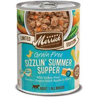 Merrick Seasonals Sizzlin' Summer Supper Recipe Grain-Free Canned Dog Food, 12.7-oz, case of 12