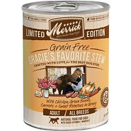 Merrick Seasonals Gracie's Favorite Stew Recipe Grain-Free Canned Dog Food, 12.7-oz, case of 12