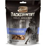 Merrick Backcountry Freeze-Dried Raw Real Chicken Recipe Dog Treats, 3.25-oz bag