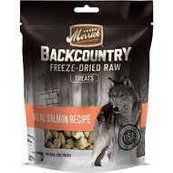 Merrick Backcountry Freeze-Dried Raw Real Salmon Recipe Dog Treats, 3.25-oz bag