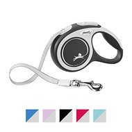 Flexi New Comfort Retractable Tape Dog Leash, Grey, X-Small, 10-ft