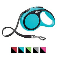 Flexi New Comfort Retractable Tape Dog Leash, Blue, Small, 16-ft
