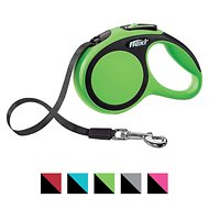 Flexi New Comfort Retractable Tape Dog Leash, Green, Small, 16-ft