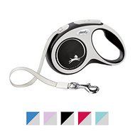 Flexi New Comfort Retractable Tape Dog Leash, Grey, Small, 16-ft