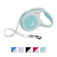 Flexi New Comfort Retractable Tape Dog Leash, Blue, Medium, 16-ft