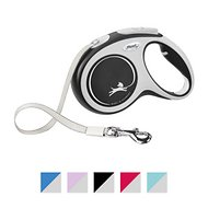 Flexi New Comfort Retractable Tape Dog Leash, Grey, Medium, 16-ft