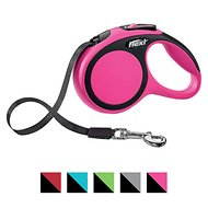 Flexi New Comfort Retractable Tape Dog Leash, Pink, Large, 16-ft