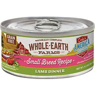 Whole Earth Farms Grain-Free Small Breed Recipe Lamb Dinner Canned Dog Food, 3.2-oz, case of 24